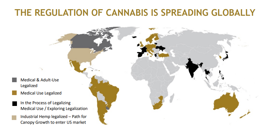 Cannabis is being legalised in more and more countries around the world
